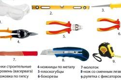 Инструменты для монтажа дверных откосов