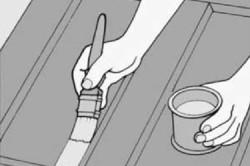Схема лакировки двери из сосны