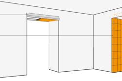 Схема уменьшения размеров дверного проема