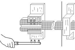 Схема замка с ключом-стержнем
