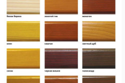 Палитра тонов лака для деревянных изделий