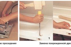 Устранения мелких дефектов деревянной двери