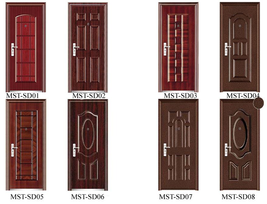 Варианты металлических дверей