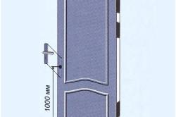 Высота установки ручки для двери