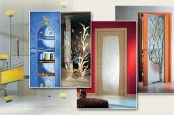 Декоративные наклейки на двери