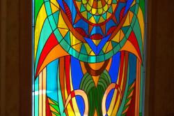 Декор старой двери своими руками: витраж, декупаж, кракелюр (фото и видео)