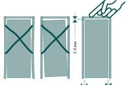 Навеска дверного полотна на петли