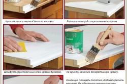 Последовательность окрашивания дверного полотна