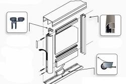 Схема двери купе межкомнатной