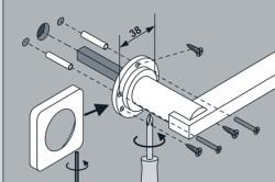 Схема установки дверных ручек