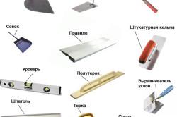 Инструменты, необходимые для штукатурных работ
