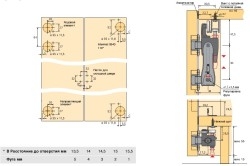 Схема установки двери-гармошки