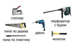 Основные инструменты, необходимые для монтажа пластиковых откосов