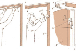 Процесс установки дверного блока