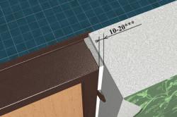 Схема установки дверной коробки с помощью монтажных пластин