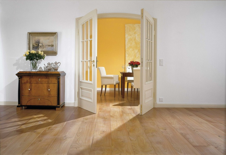 Межкомнатная двустворчатая дверь в интерьере