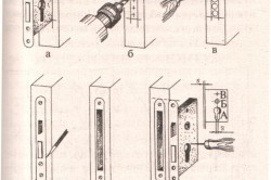 Схема этапов врезки замка