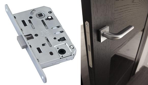 Магнитный замок в межкомнатную дверь