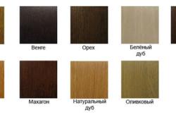 Основные цвета выкрасок дубовых межкомнатных дверей