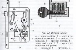 Схема дверного замка