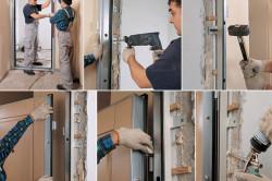 Процесс установки входной металлической двери