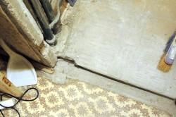 Удаление бетонного порога
