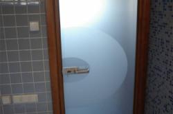 Дверь для ванной на основе стекла