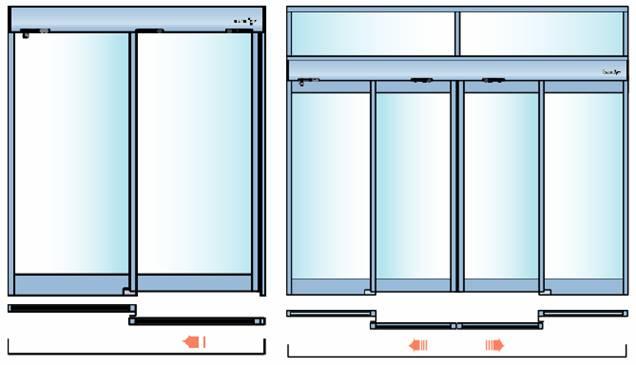 Комплектация раздвижной двери