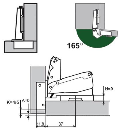 Схема монтажа барной петли