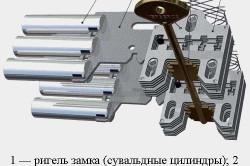 Схема замка с ригелем