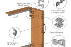 Схема монтажа складных дверей