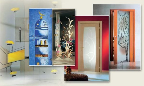 Декорирование двери в доме