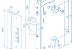 Схема электромеханического дверного замка