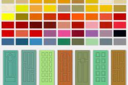 Палитра цветов для покраски дверей из МДФ