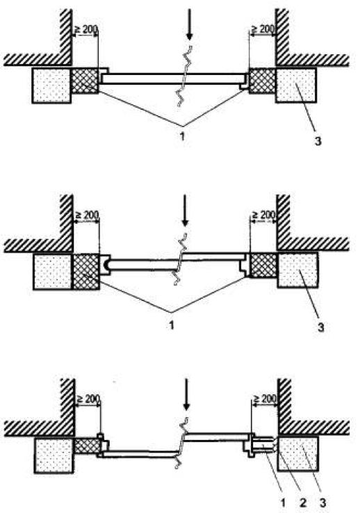 Схемы монтажа образцов