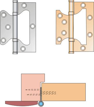 """Схема монтажа дверных петель """""""