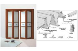 Основные составляющие детали двери-гармошка