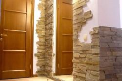 Отделка декоративным камнем стены