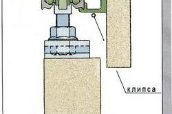 Схема крепления верхней направляющей