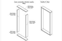 Схема установки двери в обсадную коробку