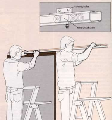 Установка раздвижных межкомнатных дверей своими руками - правила