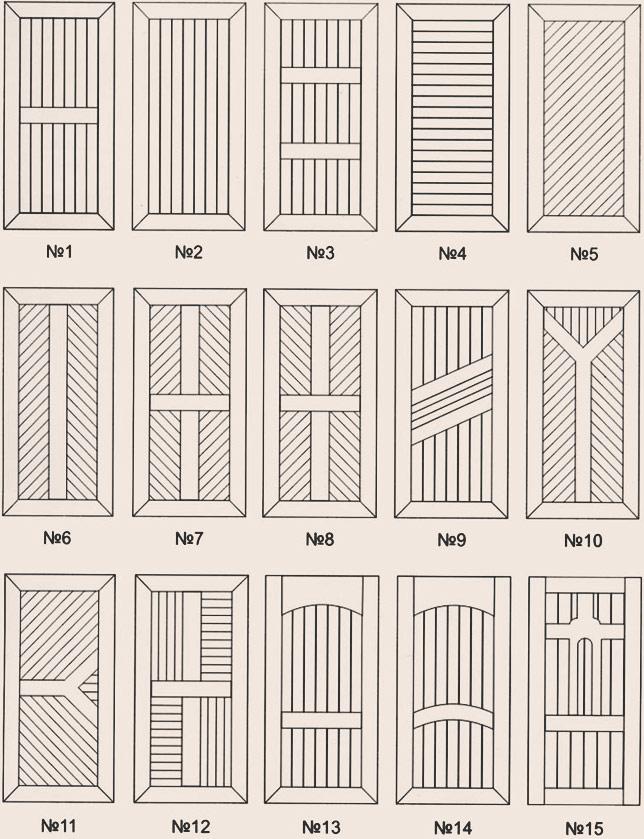 Двери из вагонки схема