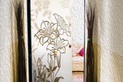 Декорирование двери с помощью виниловых наклеек