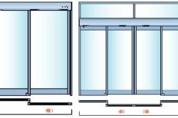 Раздвижные двери с одним и двумя дверными полотнами