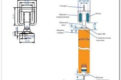 Схема крепежа раздвижных дверей