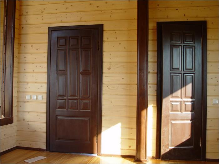 Как установить металлическую дверь в деревянном доме 43